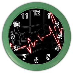 Music Wallpaper Heartbeat Melody Color Wall Clock