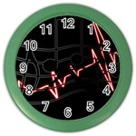 Music Wallpaper Heartbeat Melody Color Wall Clock Front