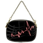 Music Wallpaper Heartbeat Melody Chain Purse (One Side) Front