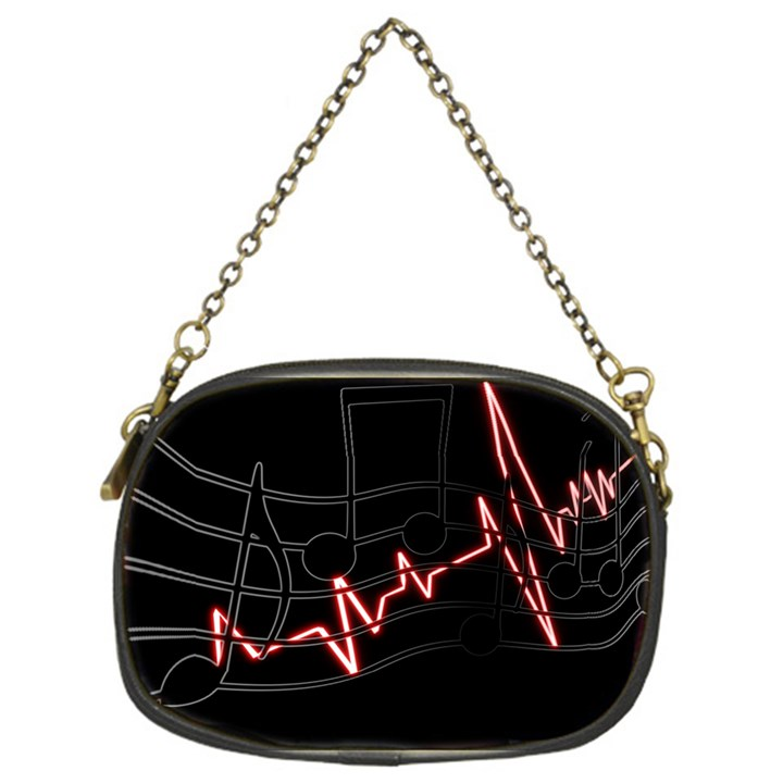 Music Wallpaper Heartbeat Melody Chain Purse (One Side)