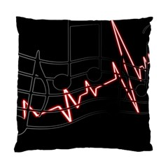Music Wallpaper Heartbeat Melody Standard Cushion Case (two Sides) by HermanTelo