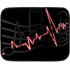 Music Wallpaper Heartbeat Melody Double Sided Fleece Blanket (mini)  by HermanTelo