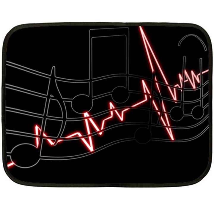 Music Wallpaper Heartbeat Melody Double Sided Fleece Blanket (Mini)