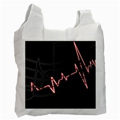 Music Wallpaper Heartbeat Melody Recycle Bag (two Side)