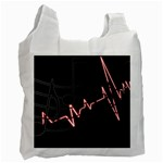 Music Wallpaper Heartbeat Melody Recycle Bag (Two Side) Front