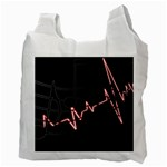 Music Wallpaper Heartbeat Melody Recycle Bag (Two Side) Back