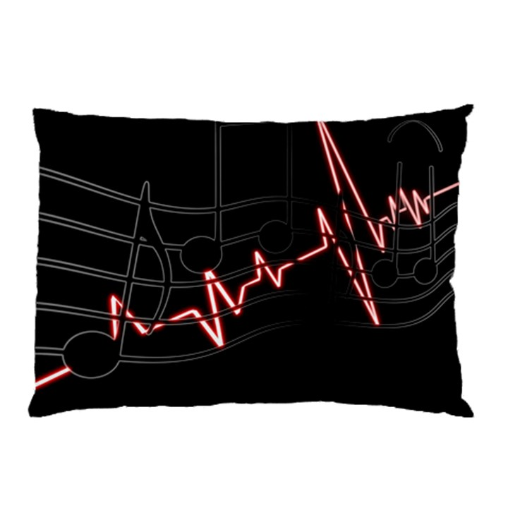 Music Wallpaper Heartbeat Melody Pillow Case (Two Sides)