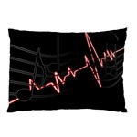 Music Wallpaper Heartbeat Melody Pillow Case (Two Sides) Back