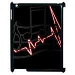 Music Wallpaper Heartbeat Melody Apple iPad 2 Case (Black) Front