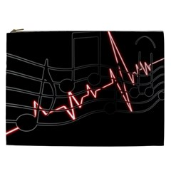 Music Wallpaper Heartbeat Melody Cosmetic Bag (xxl) by HermanTelo