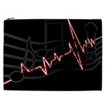 Music Wallpaper Heartbeat Melody Cosmetic Bag (XXL) Front