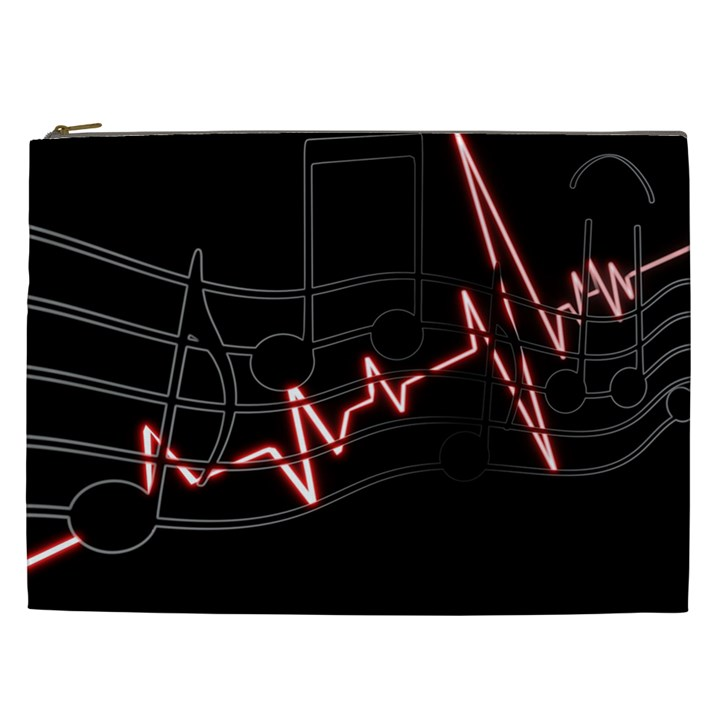 Music Wallpaper Heartbeat Melody Cosmetic Bag (XXL)