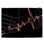 Music Wallpaper Heartbeat Melody Cosmetic Bag (XXL) Back