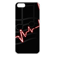 Music Wallpaper Heartbeat Melody Iphone 5 Seamless Case (white)