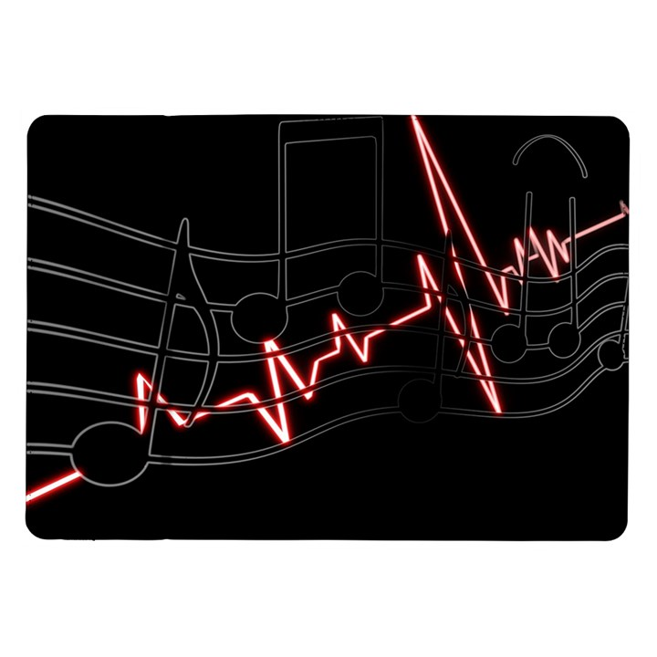 Music Wallpaper Heartbeat Melody Samsung Galaxy Tab 10.1  P7500 Flip Case