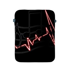 Music Wallpaper Heartbeat Melody Apple Ipad 2/3/4 Protective Soft Cases by HermanTelo