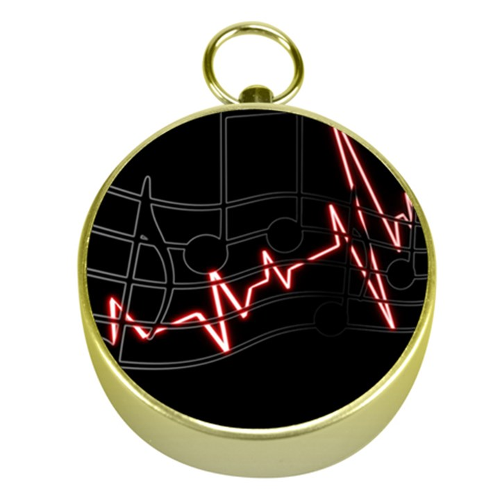 Music Wallpaper Heartbeat Melody Gold Compasses