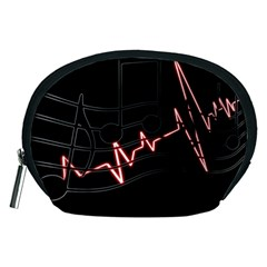 Music Wallpaper Heartbeat Melody Accessory Pouch (medium) by HermanTelo