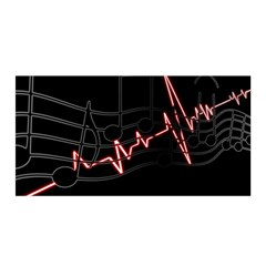 Music Wallpaper Heartbeat Melody Satin Wrap