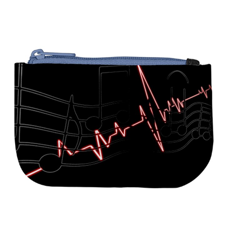Music Wallpaper Heartbeat Melody Large Coin Purse