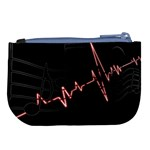 Music Wallpaper Heartbeat Melody Large Coin Purse Back