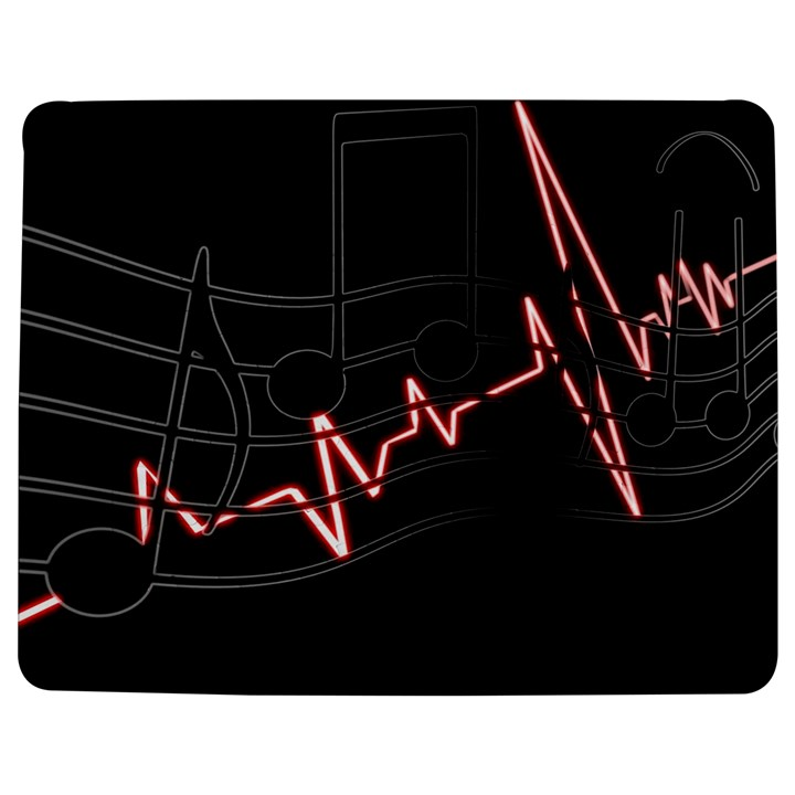 Music Wallpaper Heartbeat Melody Jigsaw Puzzle Photo Stand (Rectangular)