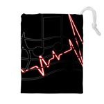 Music Wallpaper Heartbeat Melody Drawstring Pouch (XL) Front