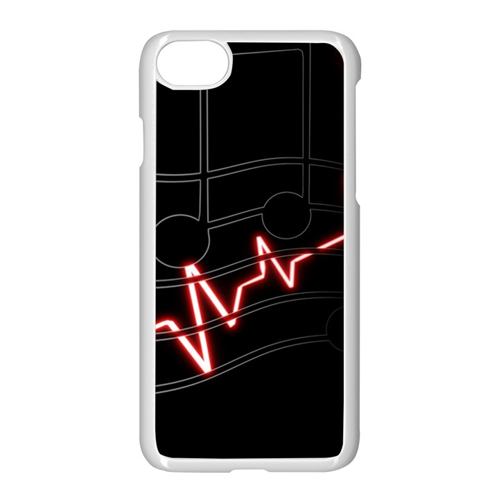 Music Wallpaper Heartbeat Melody iPhone 8 Seamless Case (White)