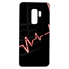 Music Wallpaper Heartbeat Melody Samsung Galaxy S9 Plus Tpu Uv Case