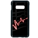 Music Wallpaper Heartbeat Melody Samsung Galaxy S10e Seamless Case (Black) Front