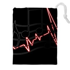 Music Wallpaper Heartbeat Melody Drawstring Pouch (5xl)