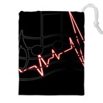 Music Wallpaper Heartbeat Melody Drawstring Pouch (5XL) Front