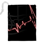 Music Wallpaper Heartbeat Melody Drawstring Pouch (5XL) Back