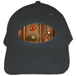Steampunk Design Black Cap Front