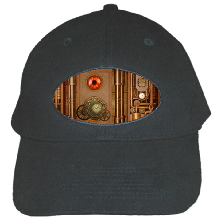Steampunk Design Black Cap
