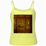 Steampunk Design Yellow Spaghetti Tank Front