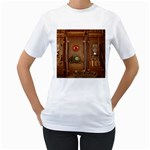 Steampunk Design Women s T-Shirt (White) (Two Sided) Front