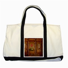 Steampunk Design Two Tone Tote Bag by FantasyWorld7