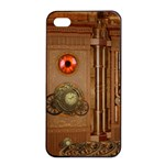 Steampunk Design iPhone 4/4s Seamless Case (Black) Front