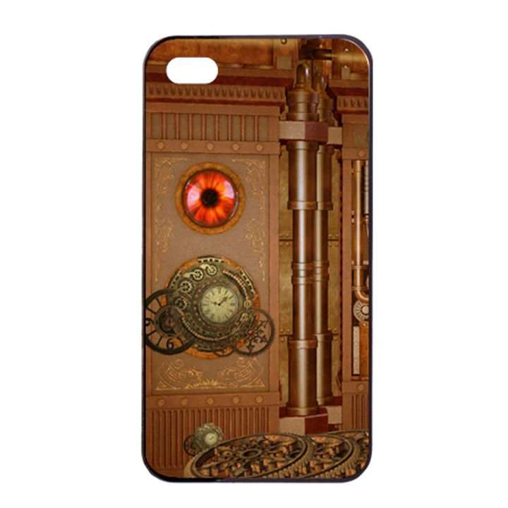 Steampunk Design iPhone 4/4s Seamless Case (Black)