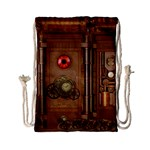 Steampunk Design Drawstring Bag (Small) Back