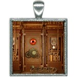 Steampunk Design Square Necklace Front