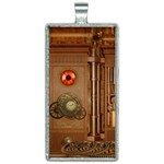 Steampunk Design Rectangle Necklace Front