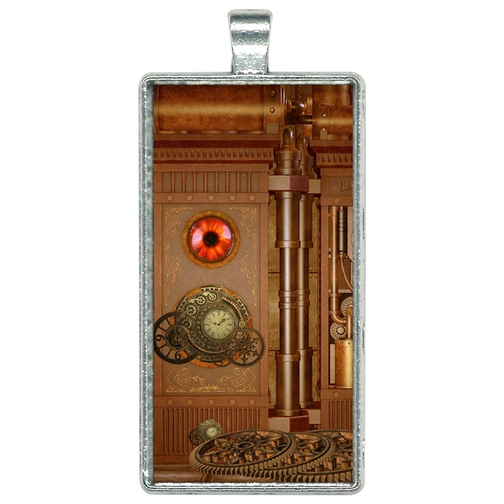 Steampunk Design Rectangle Necklace