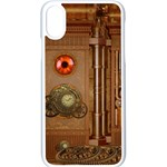Steampunk Design iPhone XS Seamless Case (White) Front