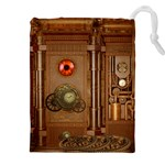 Steampunk Design Drawstring Pouch (5XL) Front