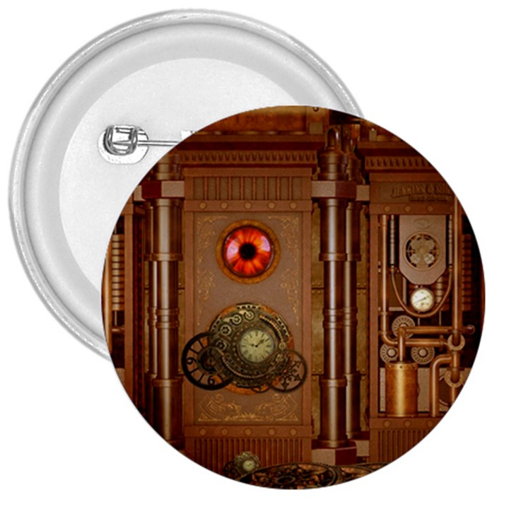 Steampunk Design 3  Buttons