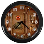 Steampunk Design Wall Clock (Black) Front