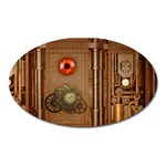 Steampunk Design Oval Magnet Front
