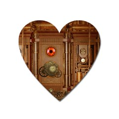 Steampunk Design Heart Magnet by FantasyWorld7